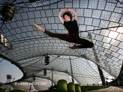 Olympic Stadion Munich 2007 Ballet dancer Tycho Hupperets 19 from Maastricht is one of the most promising talents in the Netherlands. After being a student for two years at the Heinz Bosl Stiftung in Munich, Tycho has now been contracted by the Dutch National Ballet Company in the Netherlands © Harry Heuts